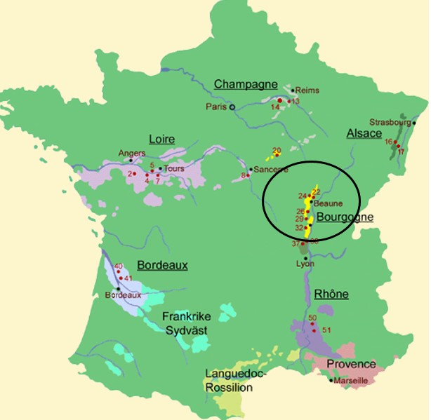 karta champagnedistriktet Chablis Les Marouettes ‹ Apricot karta champagnedistriktet